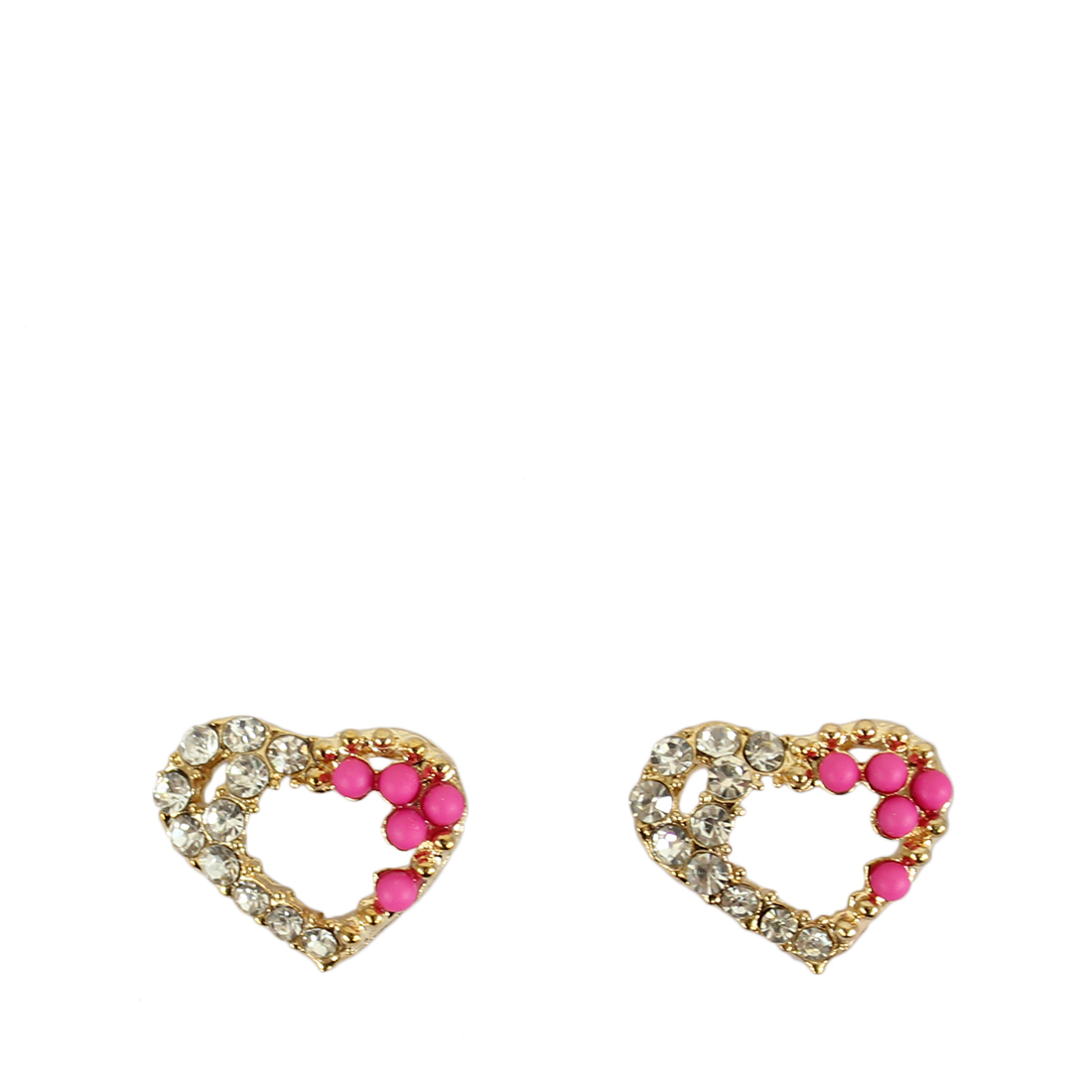 Heart with diamond and color on side