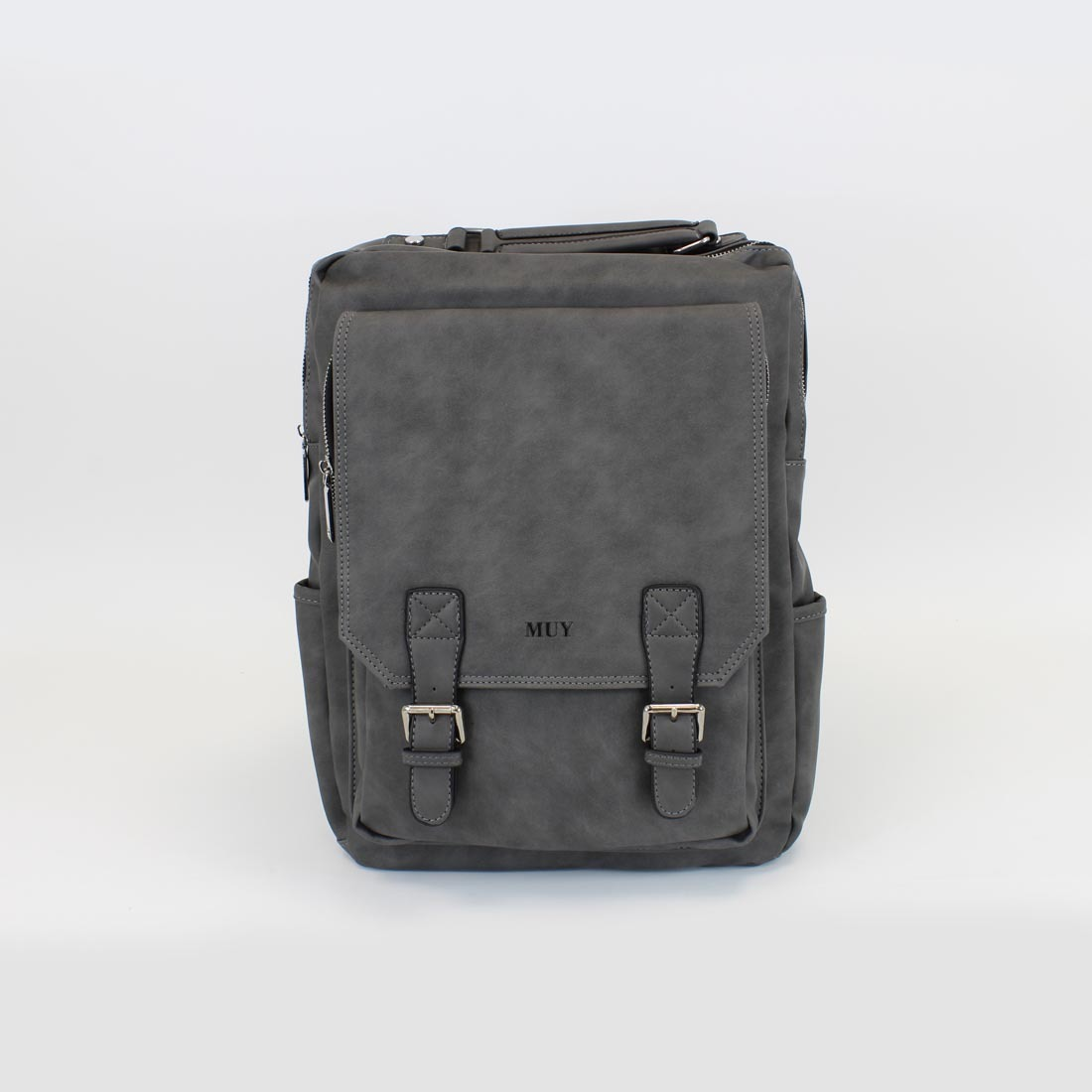 Real Leather- With flap and 2 buckles