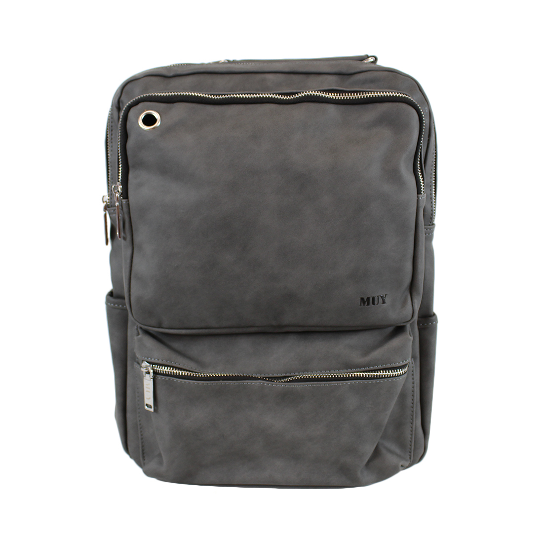 Real Leather - Plain with silver zips