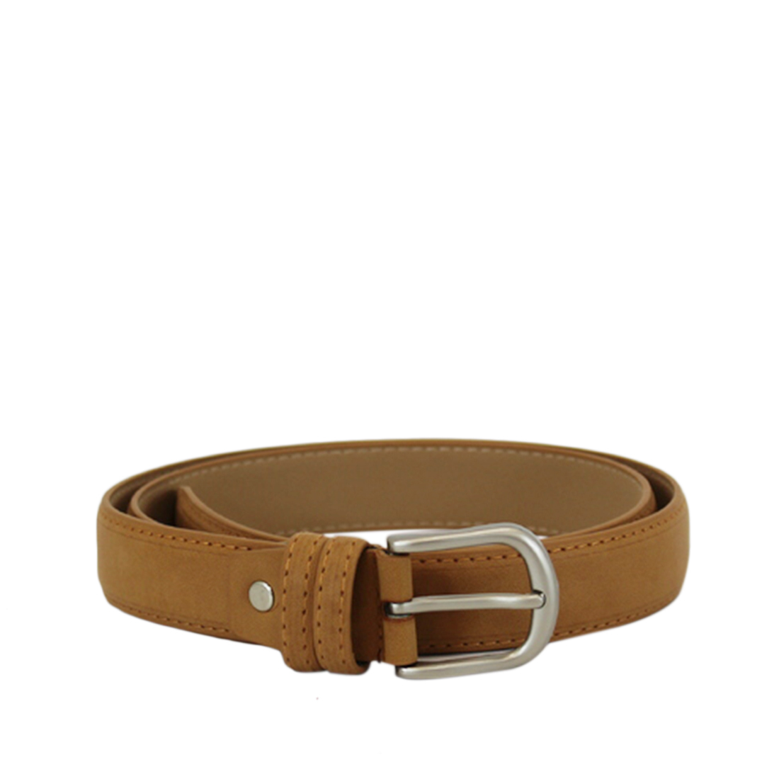 Plain with oval silver buckle
