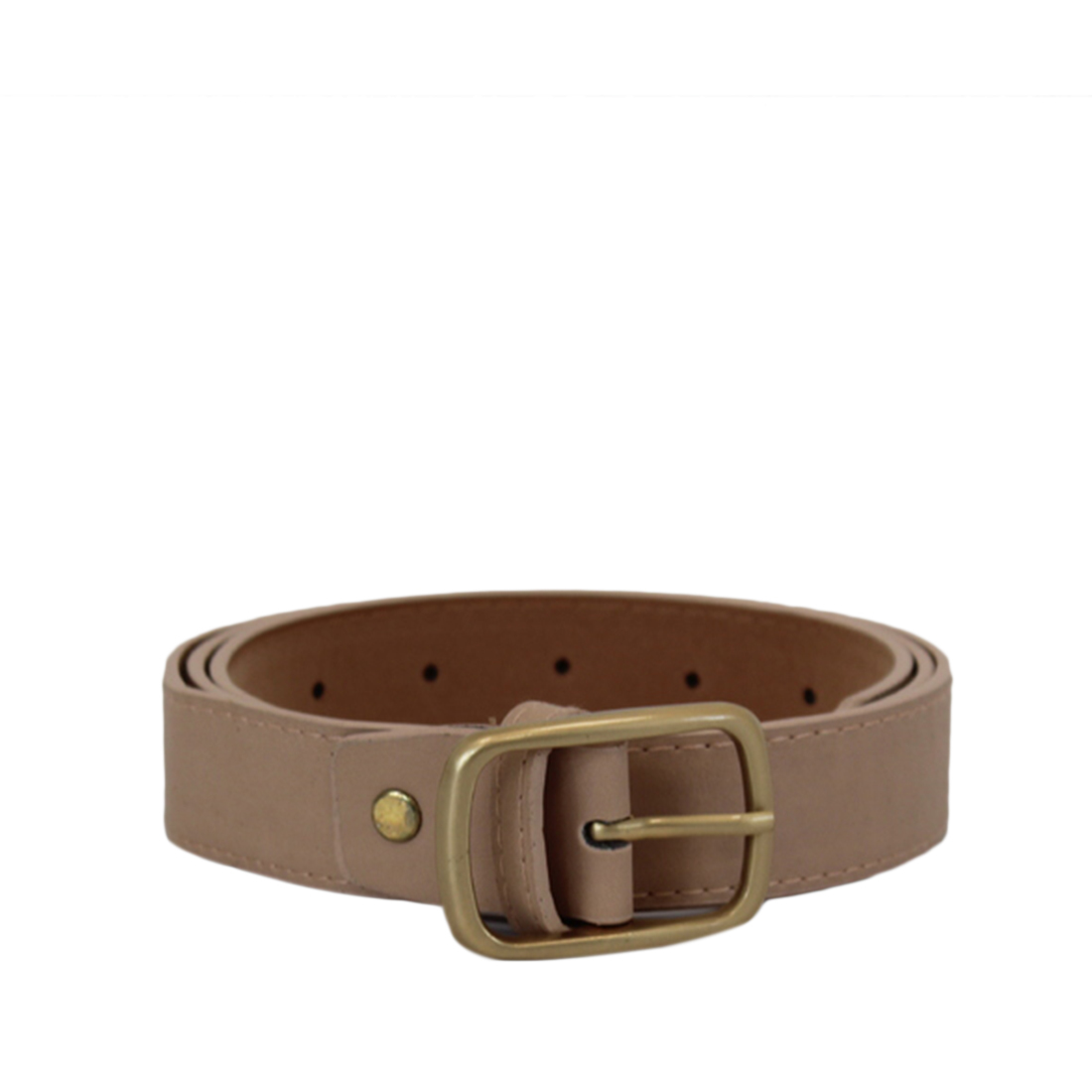 Plain with gold buckle