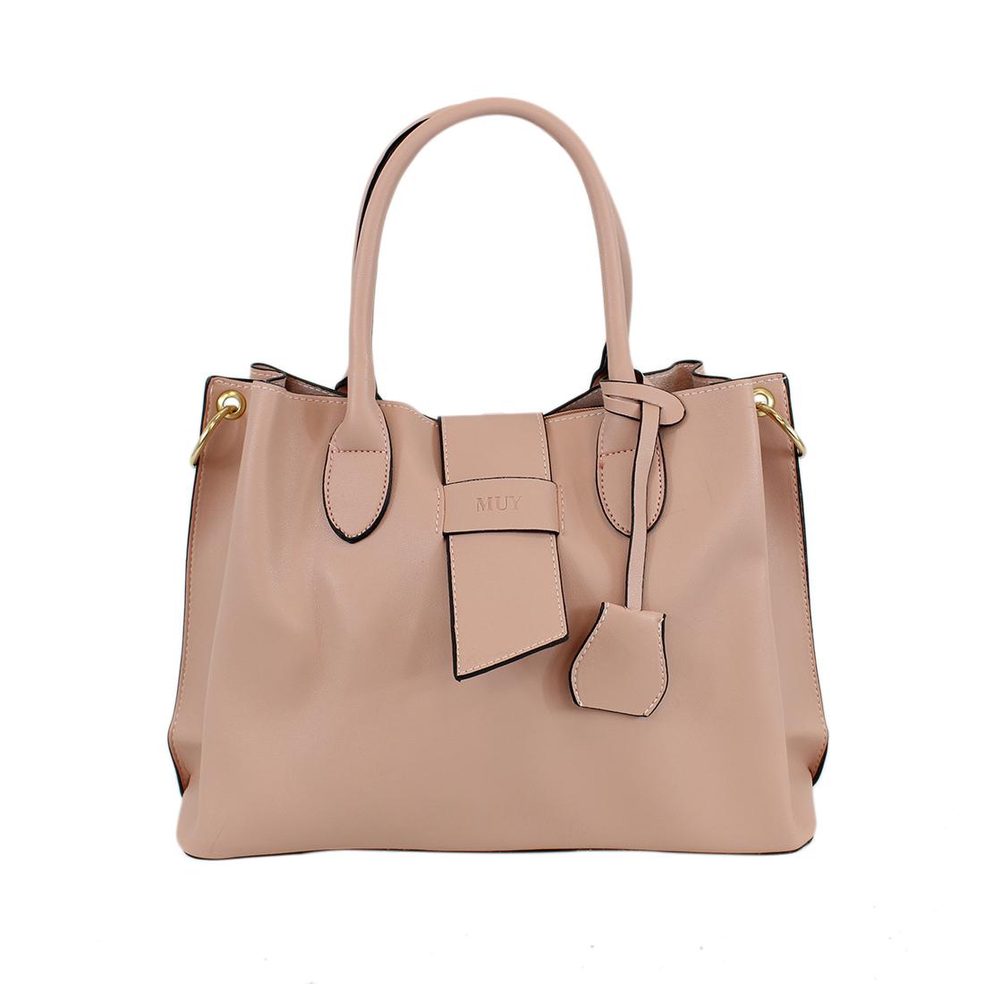 Retro large capacity plain shoulder bag