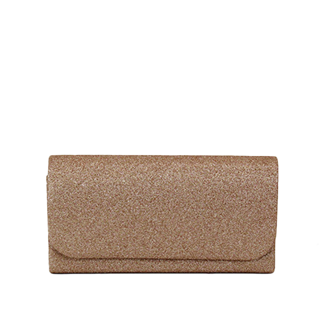 Plain casual clutch with glitters