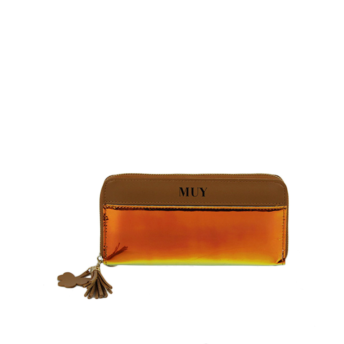 Shiny long zipper wallet