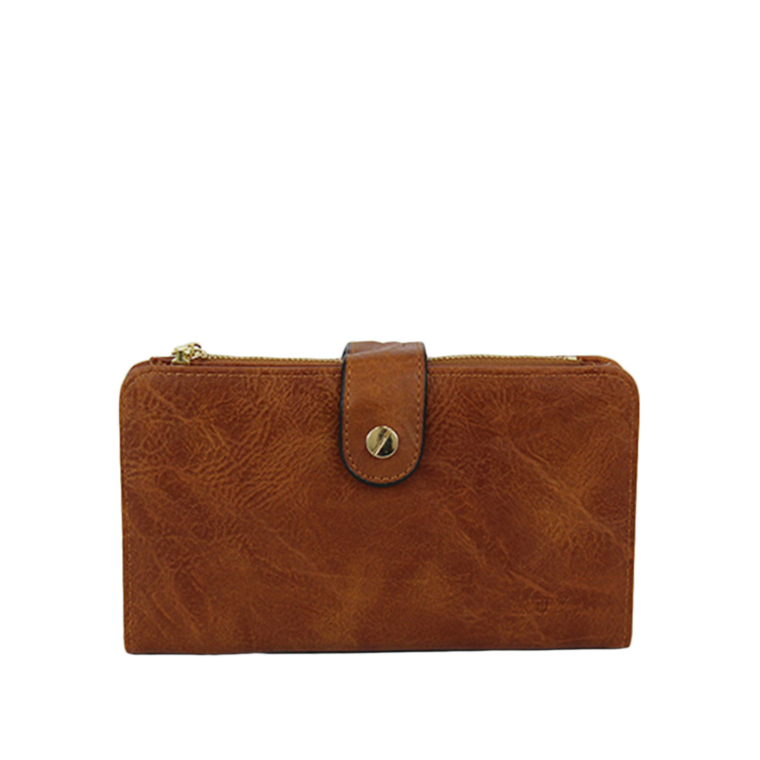 Big plain leather with gold clip