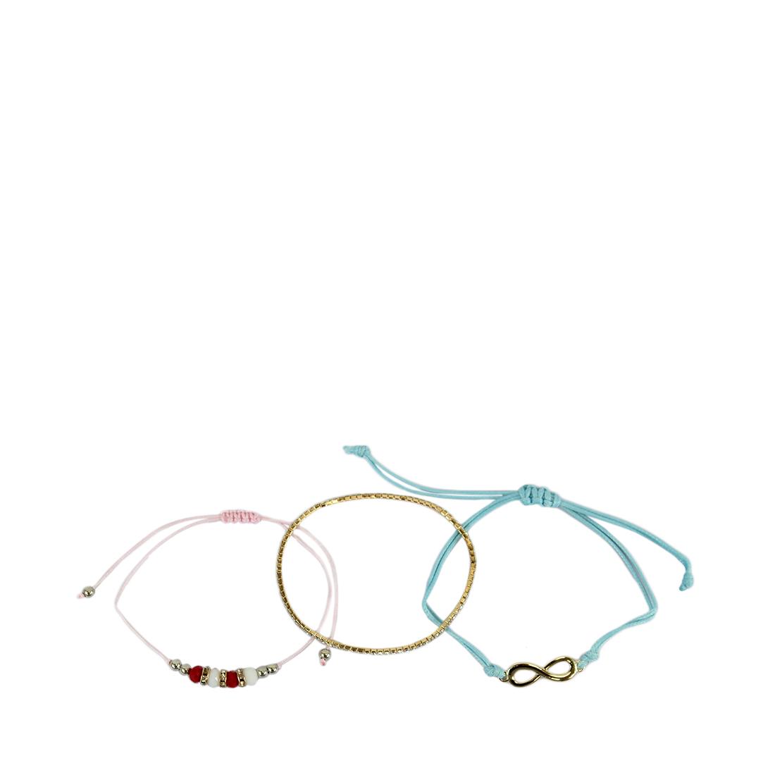Set of three bracelets with infinite sign and tiny diamonds
