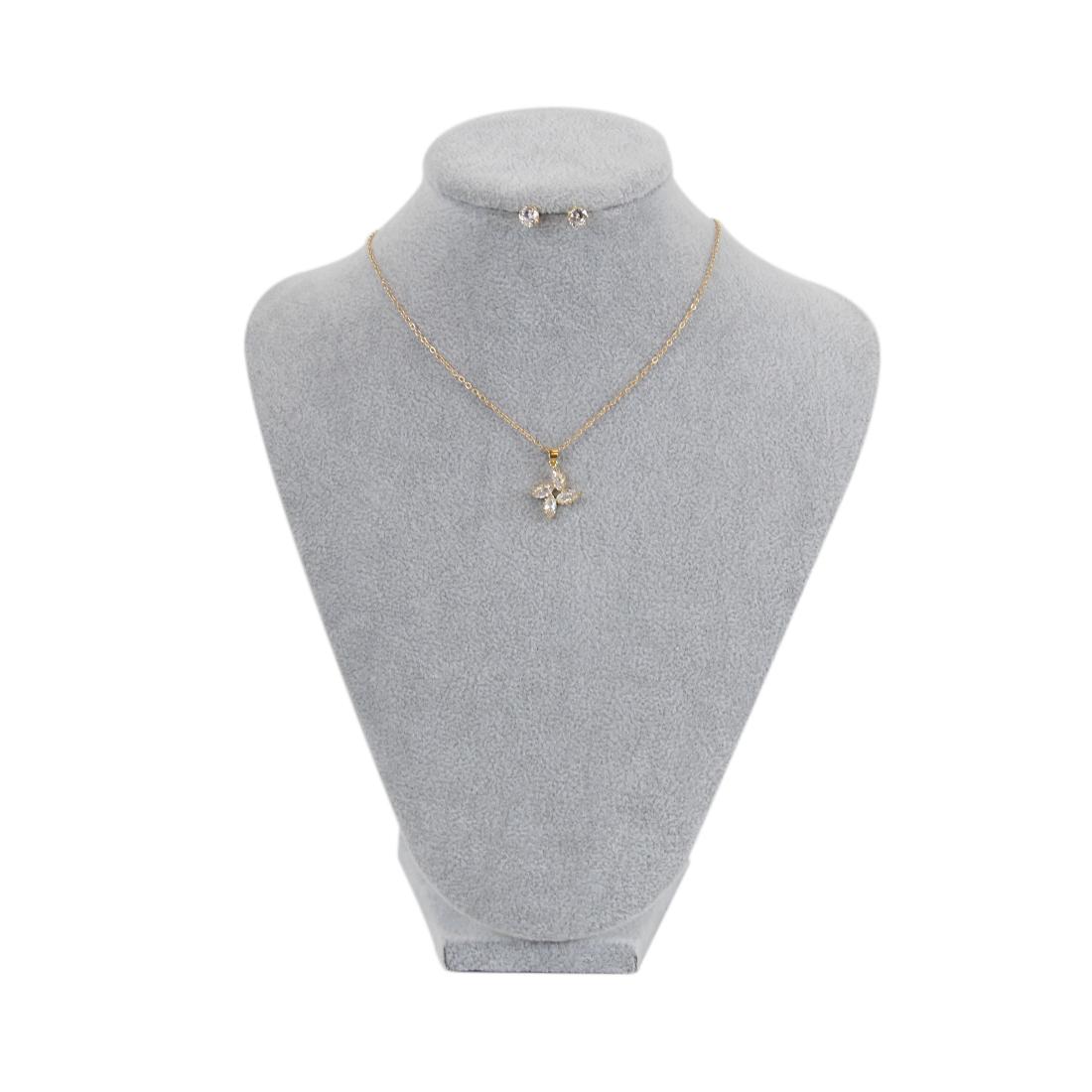 Diamond earrings with flower medal