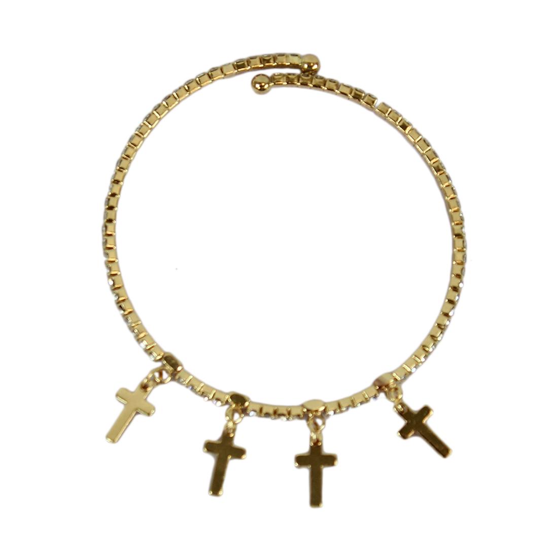 Tiny diamonds with crosses