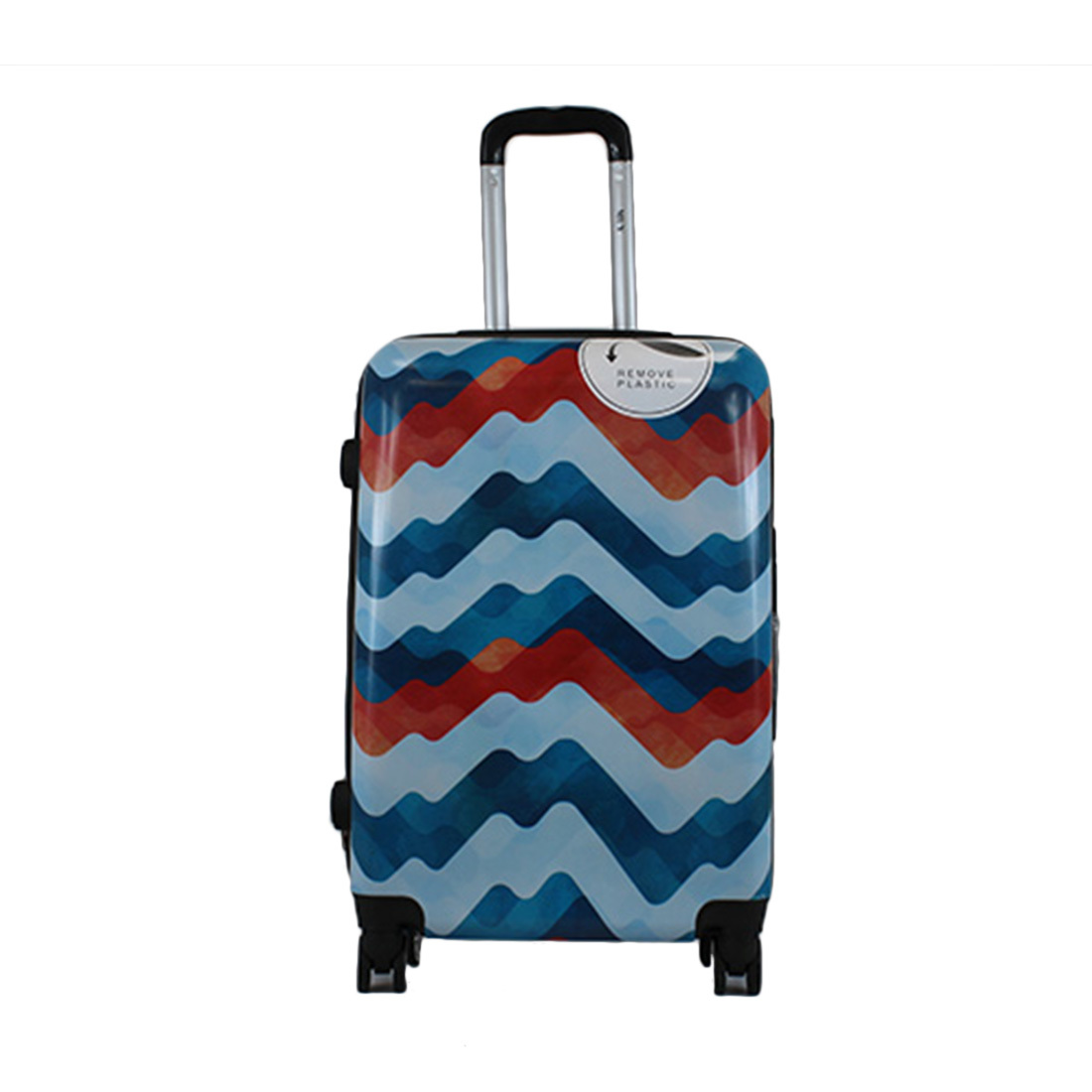 Hardside spinner waves colors print luggage