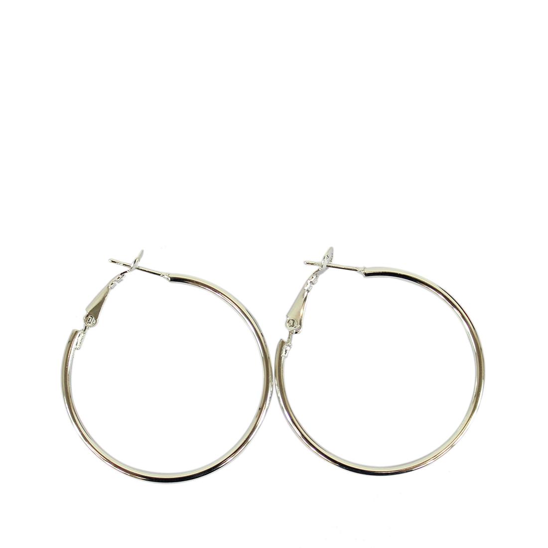 Plain hoop earrings small