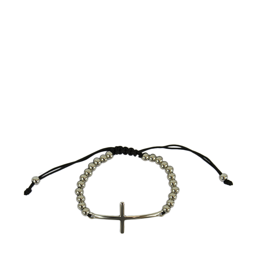 Pearl bracelet with a big cross on front