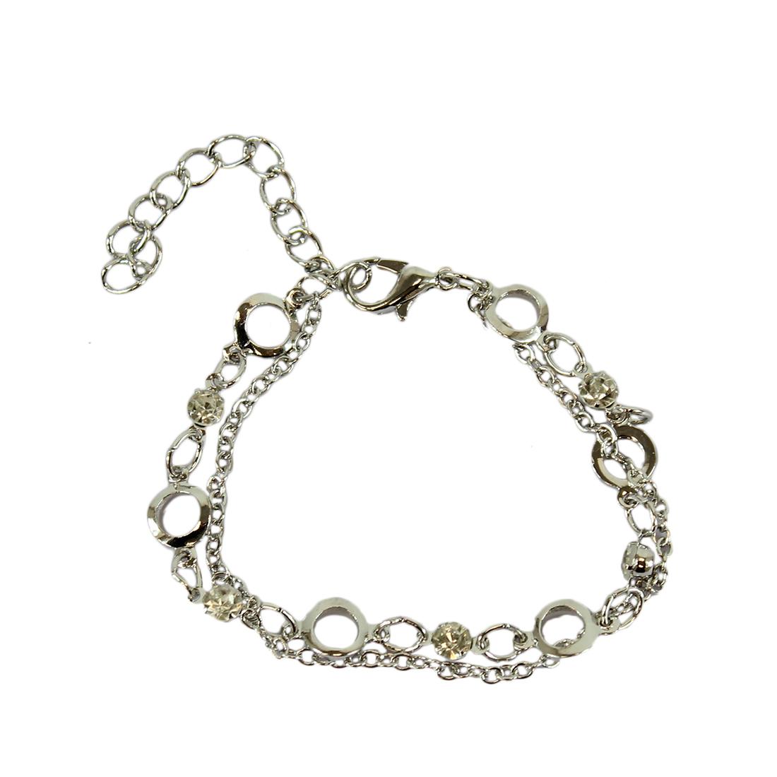 Charm bracelet with diamond trims