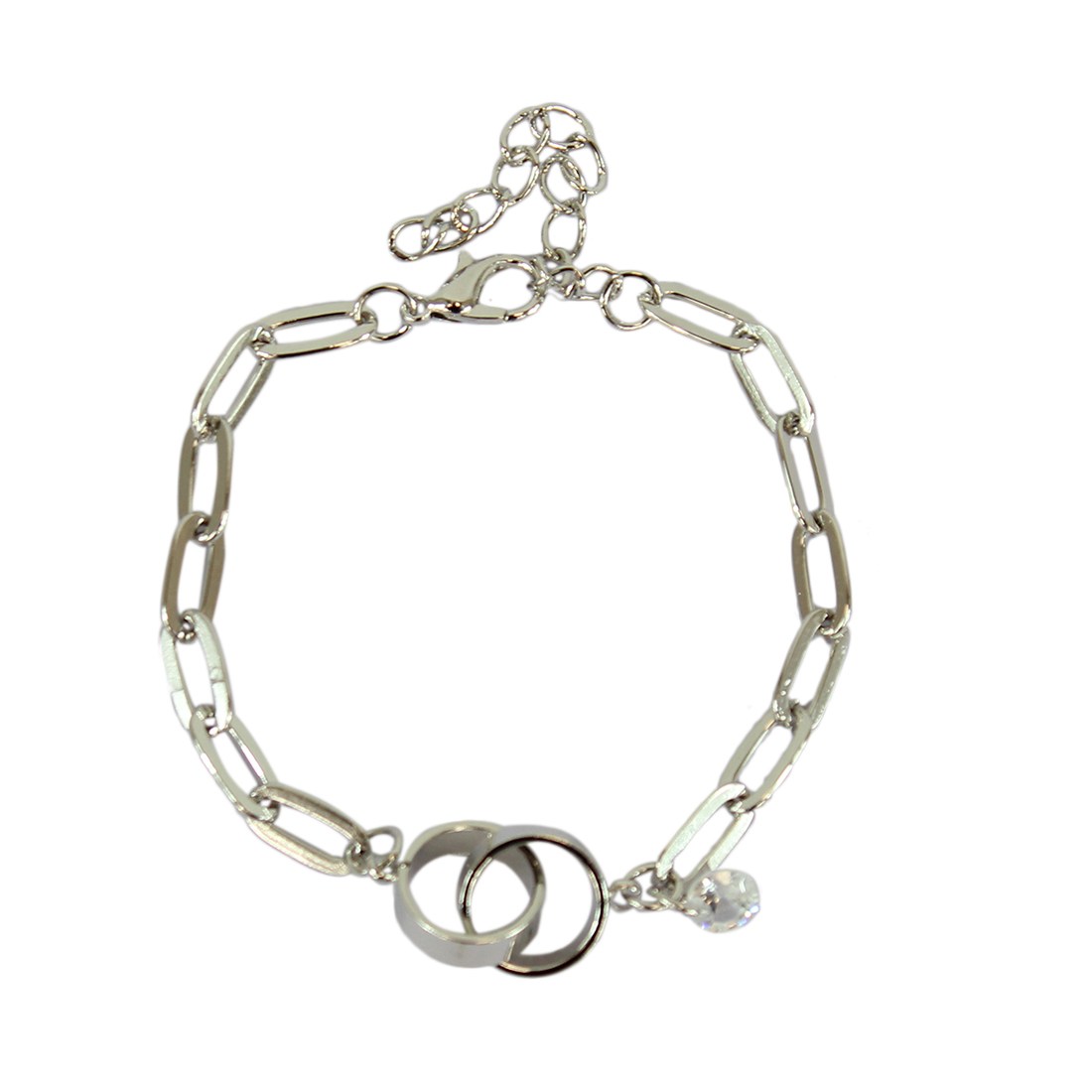 * Charm braacelet with rings and diamond