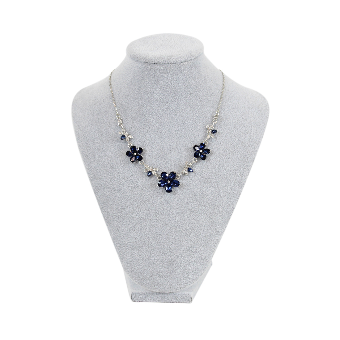 Beautiful crystal flowers necklace with tiny diamonds
