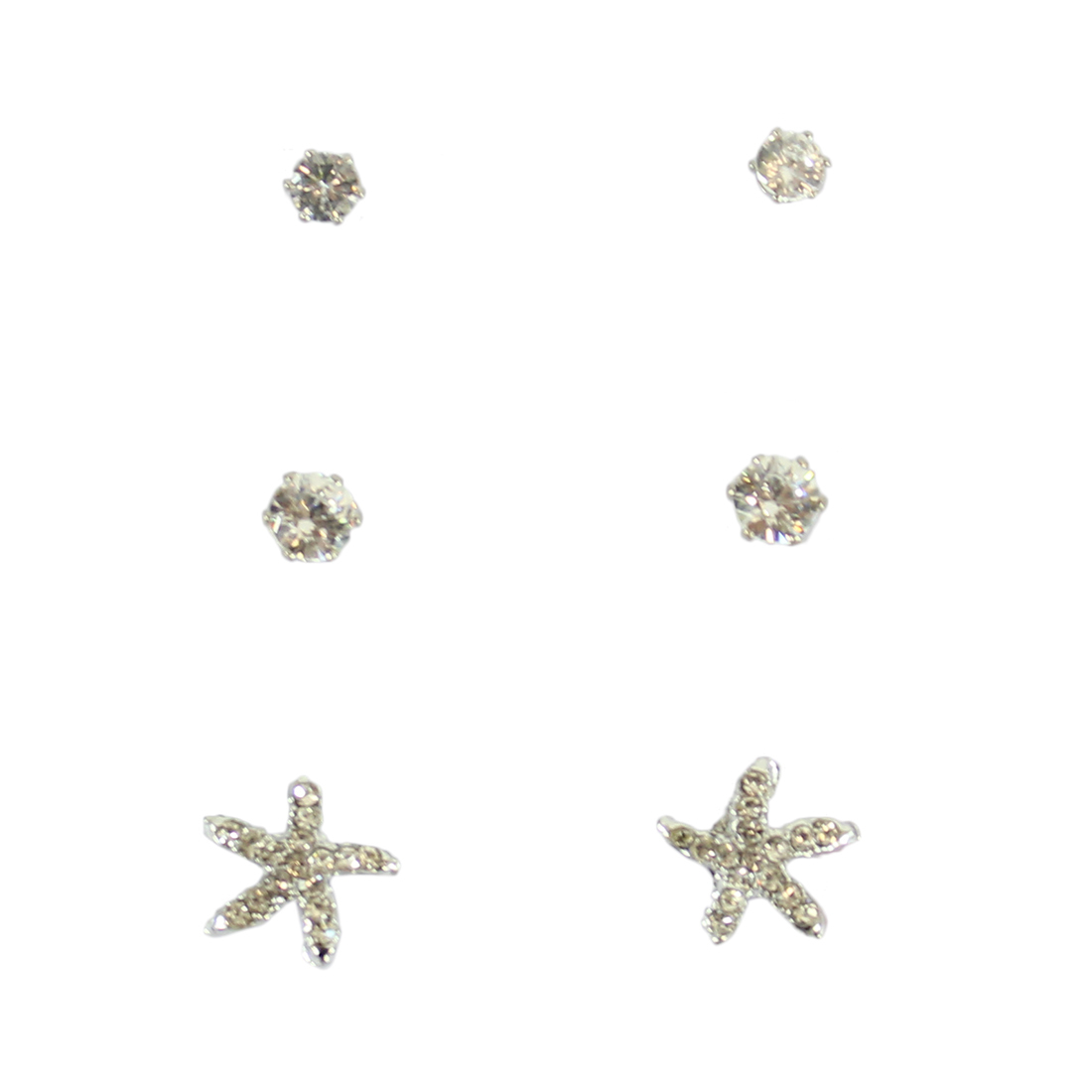 Set of three with diamonds and star with tiny diamonds