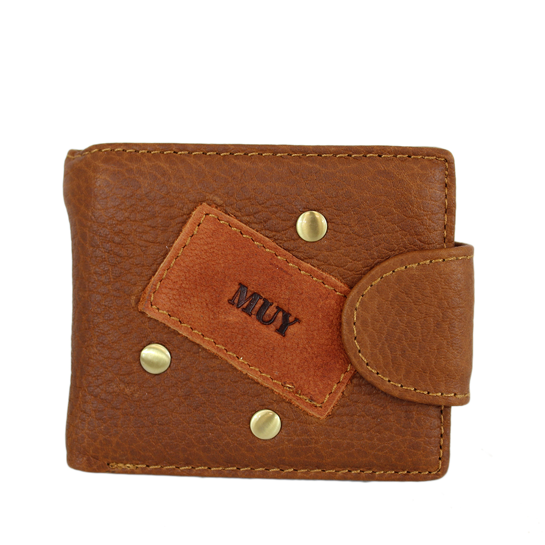 Real leather multifunctional zip wallet