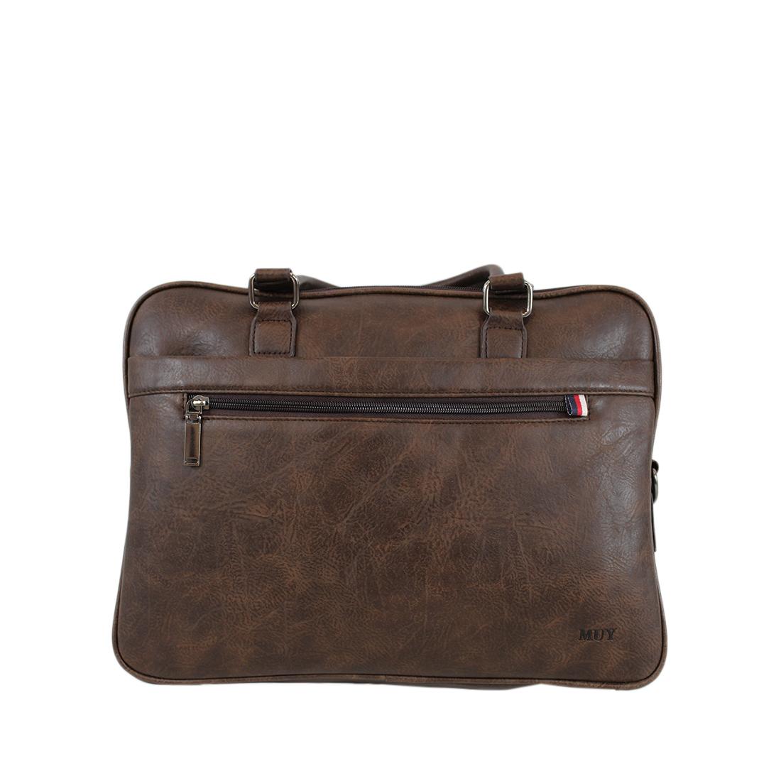 Classic leather briefcase laptop handbag