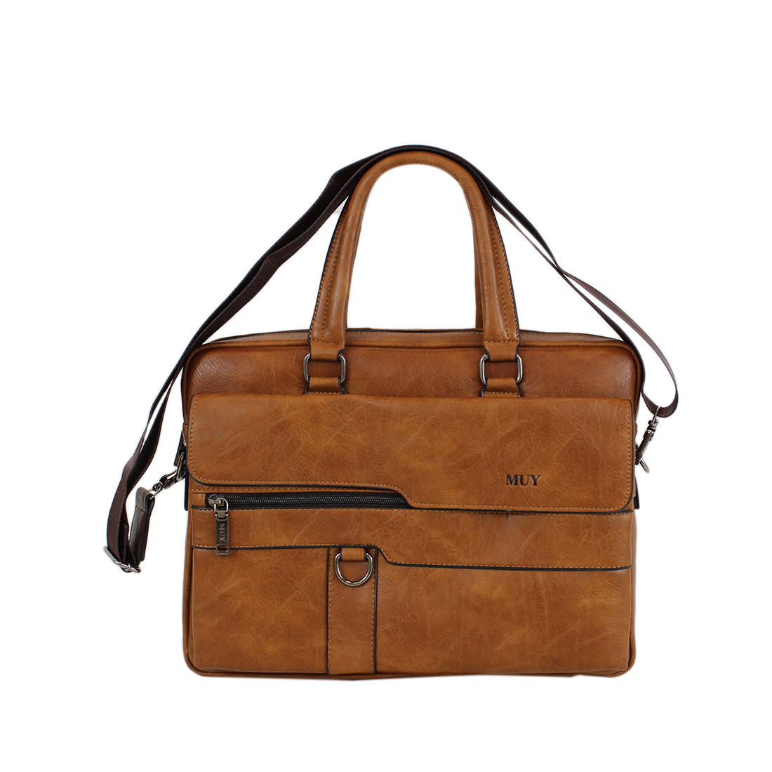 Real leather briefcase and laptop bag