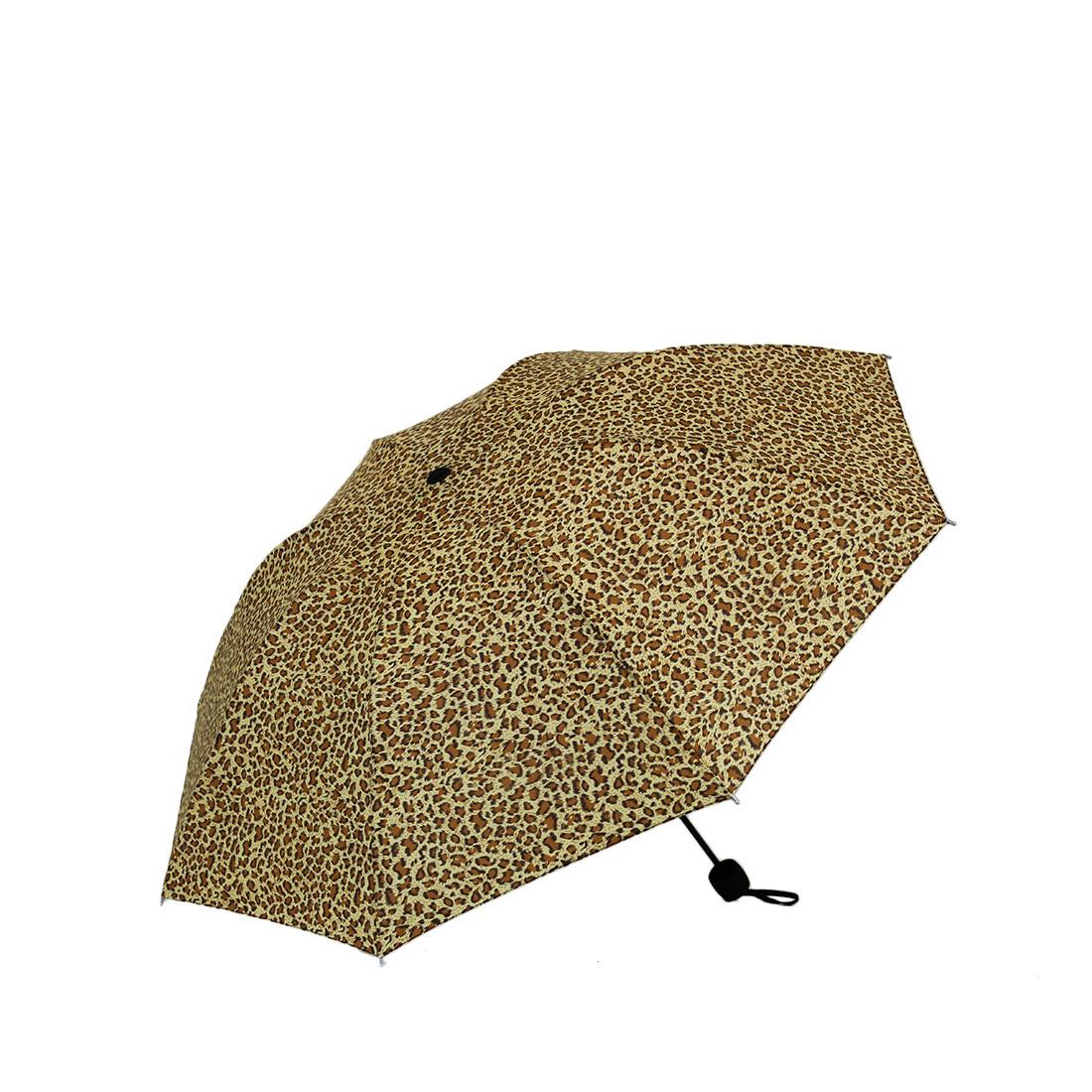 Leopard design umbrella
