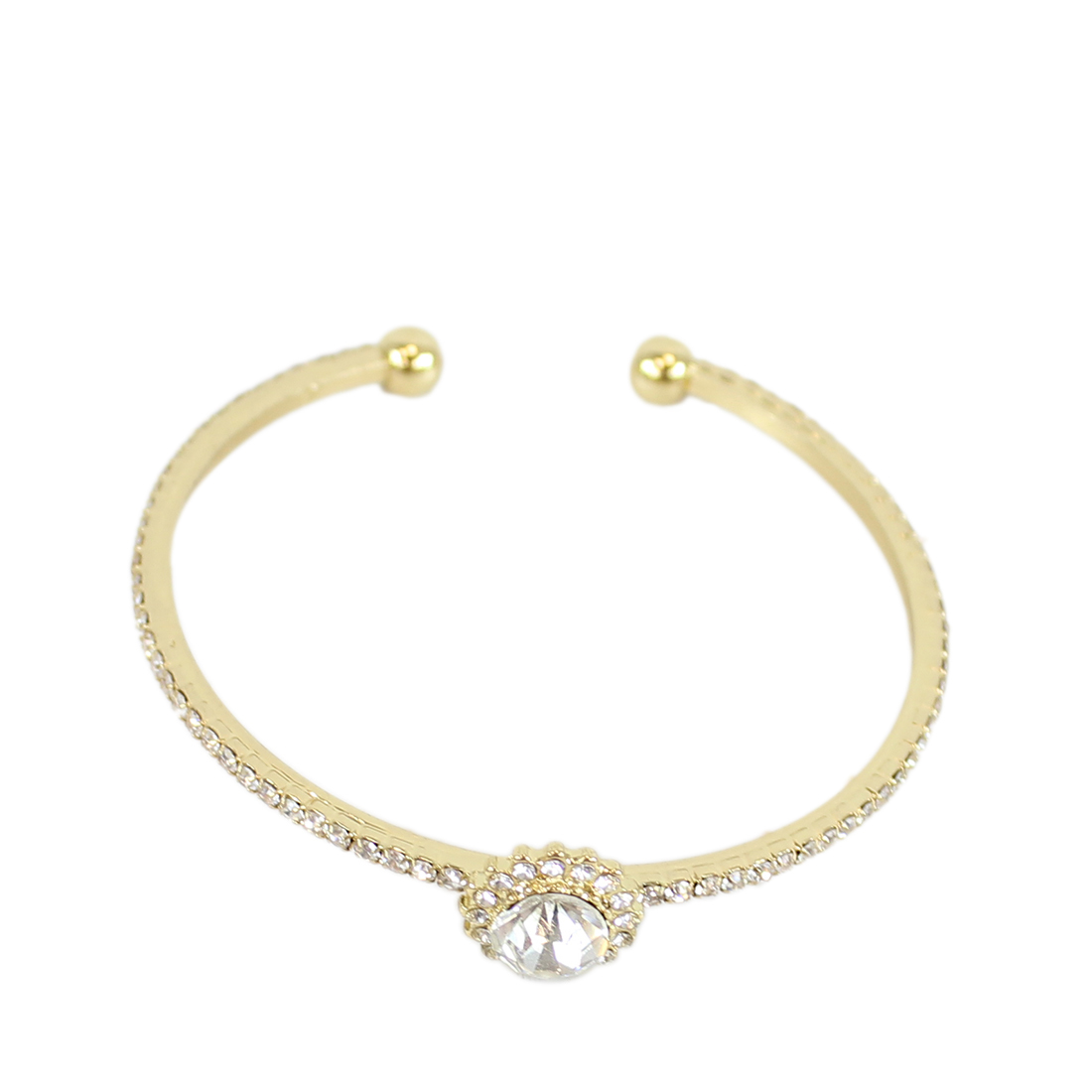 Bangle bracelet with diamonds cover