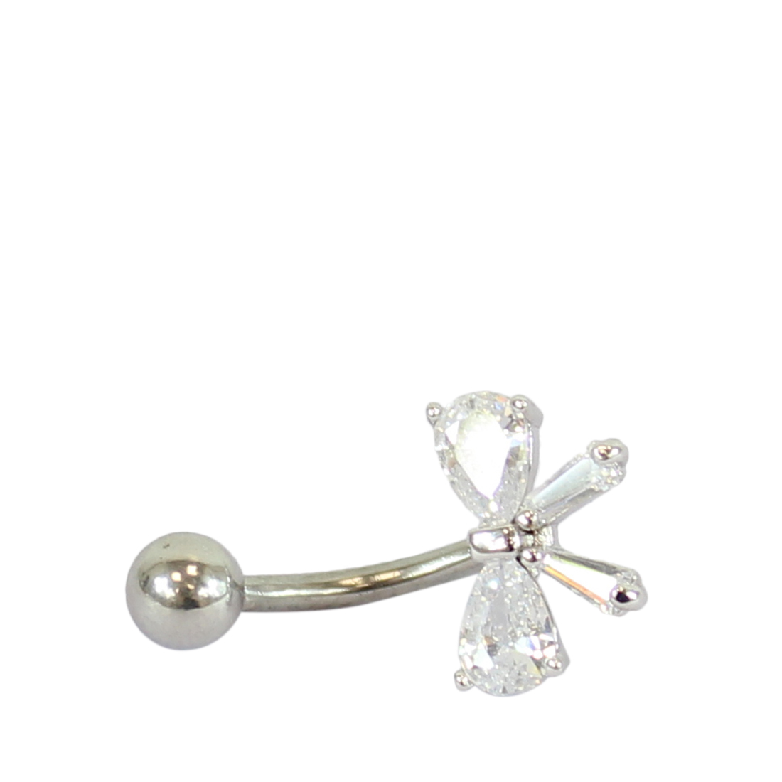 Belly button ring with bow