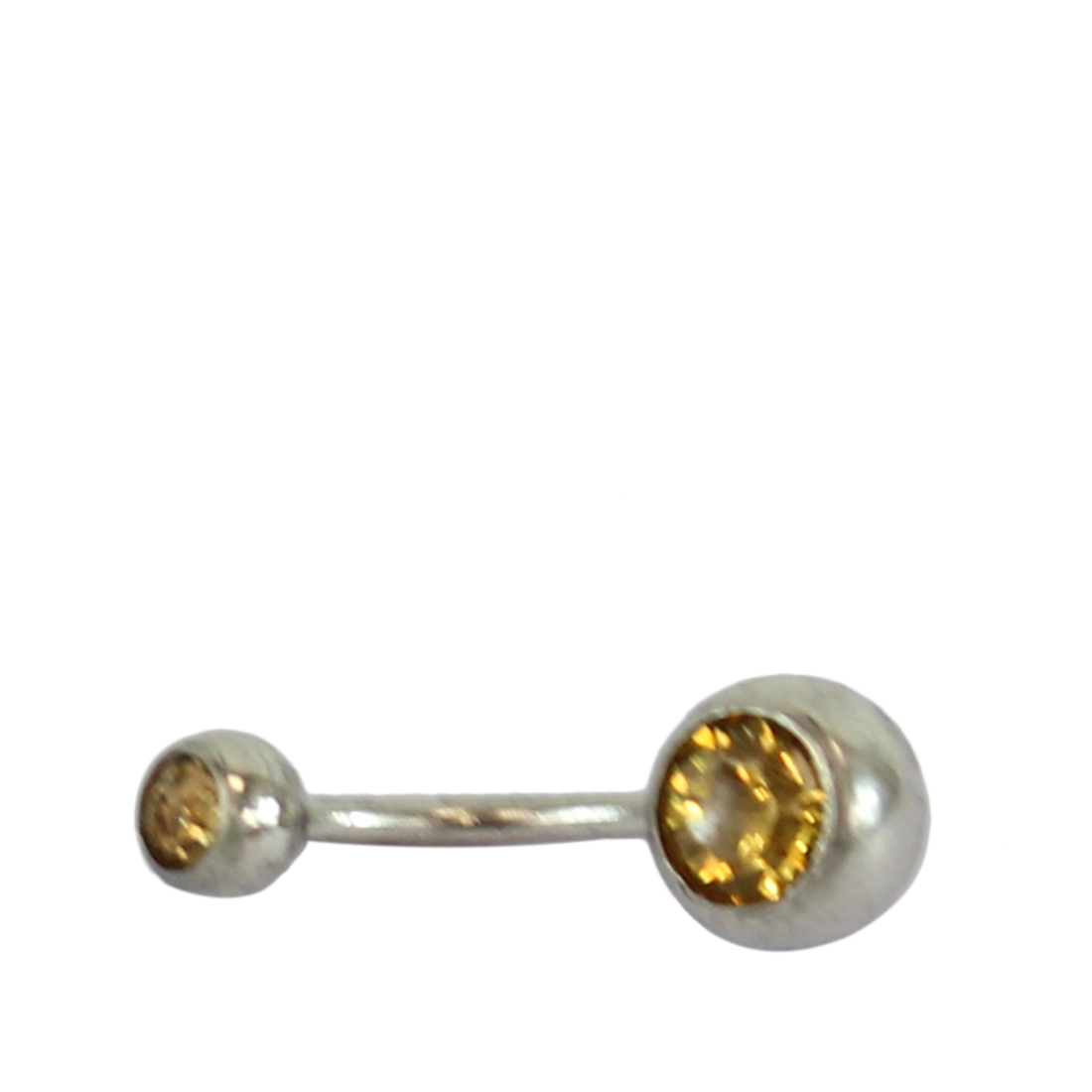 Belly button ring with diamond