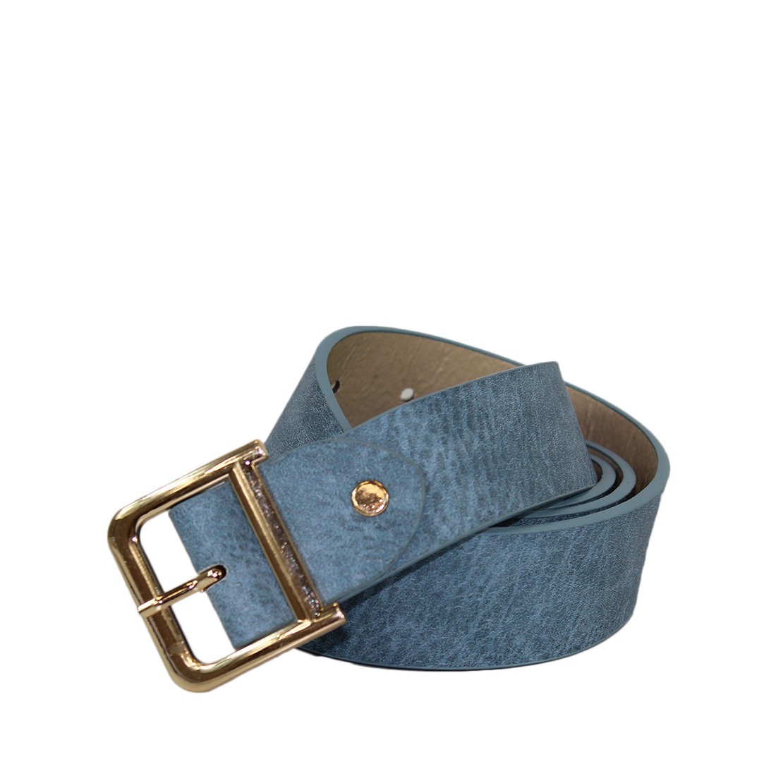 Plain with a gold buckle