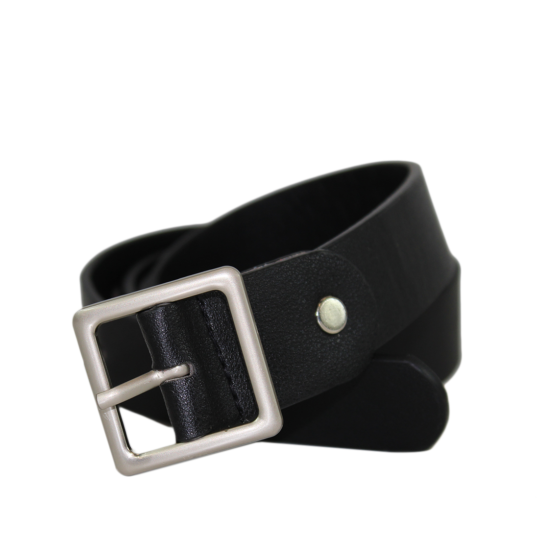 Plain Design with a square silver buckle