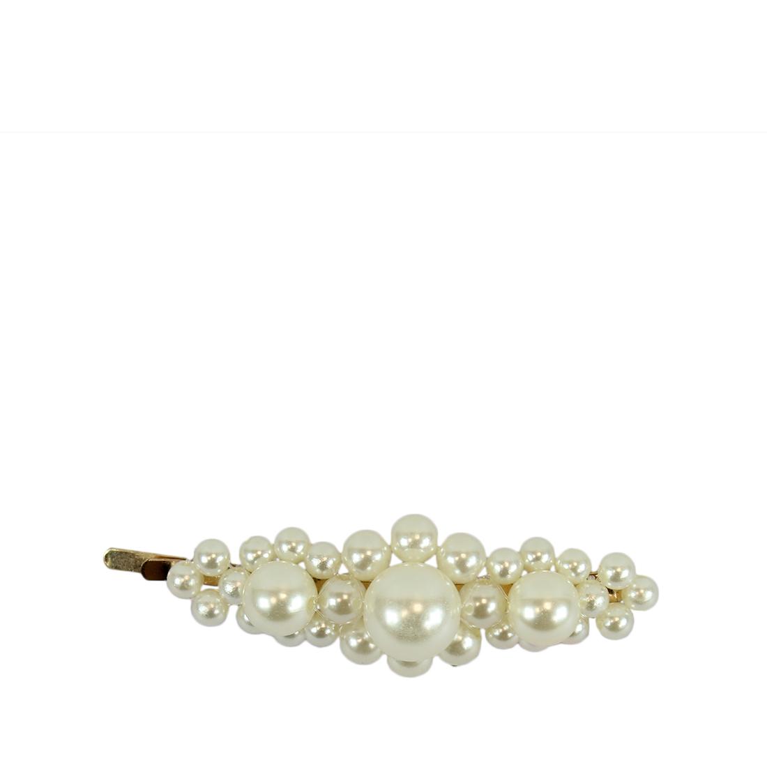 * Big & Small Pearls Clip Slide